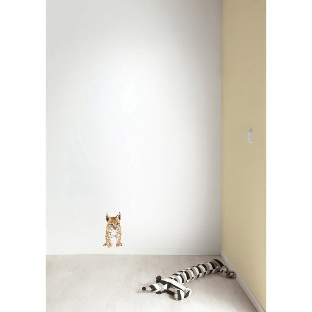 Lynx cub wall sticker - KEK Amsterdam Safari Friends animal wall decal