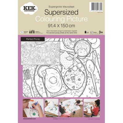 KEK Amsterdam supersized colouring in picture - Perfect Picnic