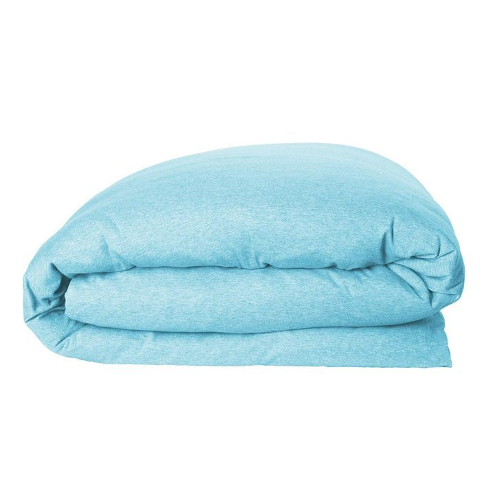 Kip Co Single Quilt Cover Pool Blue Jersey Milk Tooth