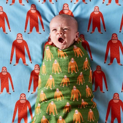Kip and Co | Bamboo Baby Swaddle | Save the Orangutans