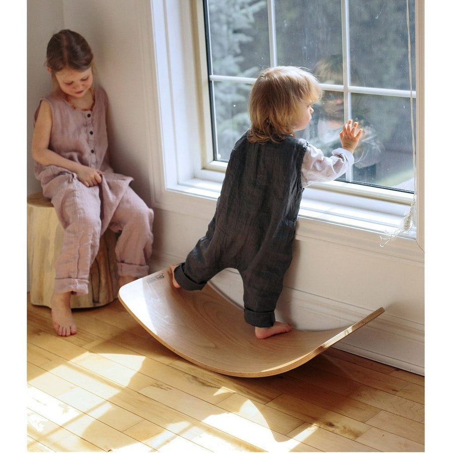 Kinderfeets | Kinderboard Balance Board | Whitewash Timber