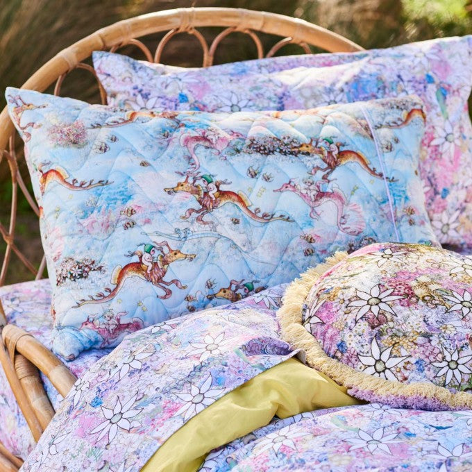 Kip and Co | May Gibbs | Quilted Pillow Case | Ocean Babes