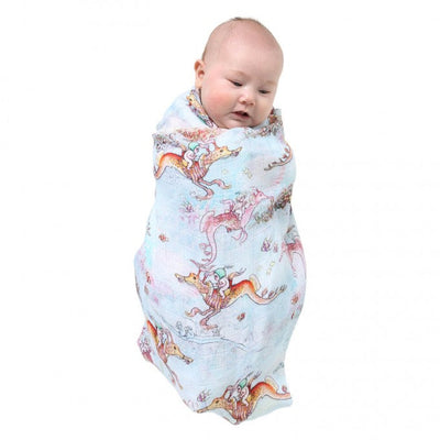 Kip and Co | May Gibbs | Single Baby Swaddle | Ocean Babes