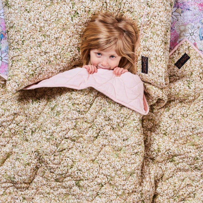 Kip and Co | May Gibbs | Quilted Bedspread Comforter | Cot | Petals