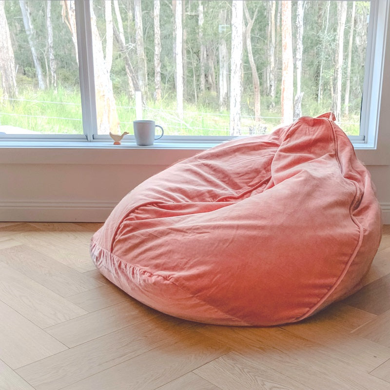 Fantastic Kip And Co Velvet Beanbag Smokey Pink Caraccident5 Cool Chair Designs And Ideas Caraccident5Info