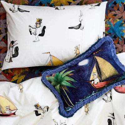 Kip and Co | Wild Things | Max Pillow Case and Quilt Cover with Set Sail Cushion