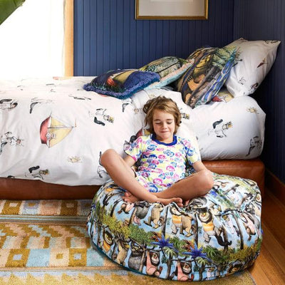 Kip and Co | Wild Things | Max Quilt Cover Pillow Case with Wild Things Ottoman