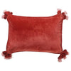 Kip and Co | Velvet Souk Cushion | Blood Orange