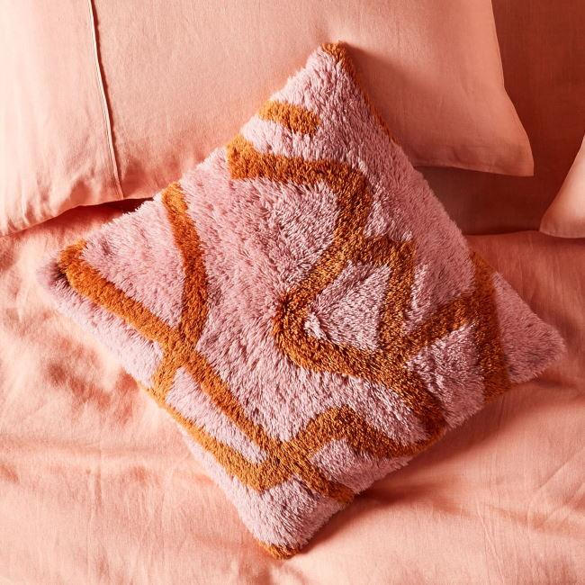 Kip and Co | Wool Shag Cushion | Dream Catcher