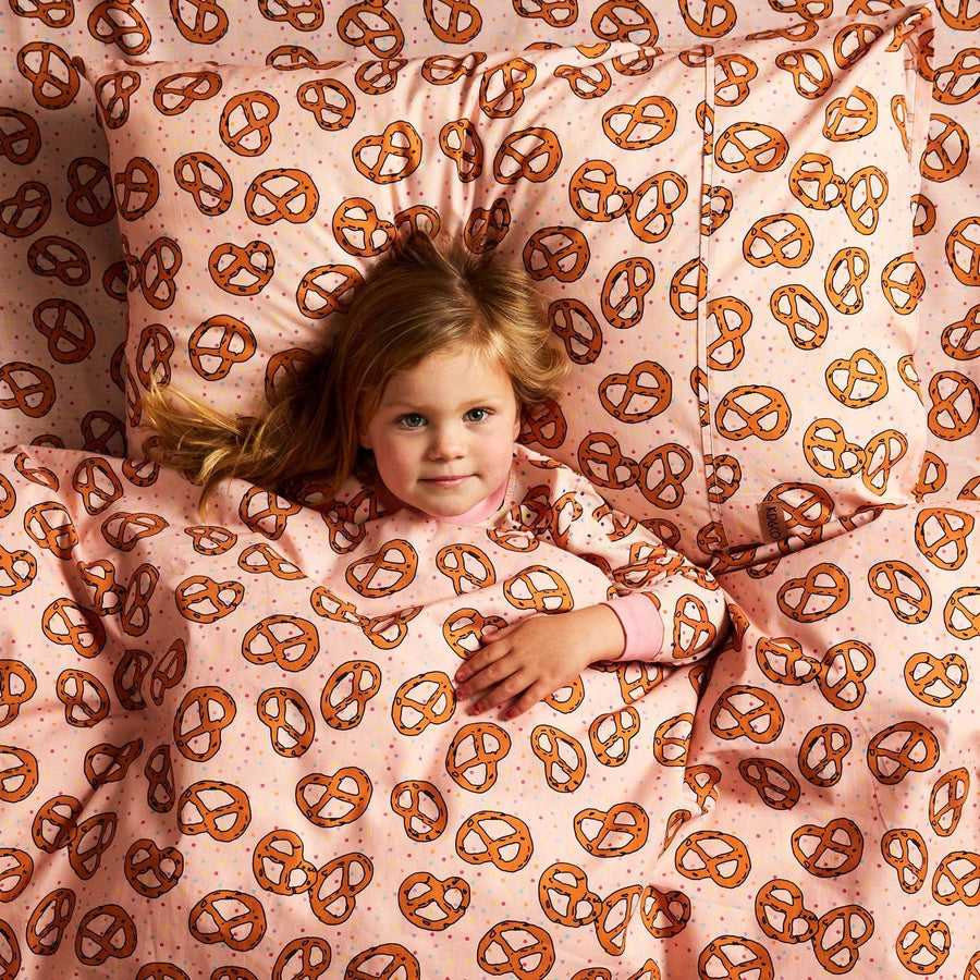 Kip and Co | Fitted Sheet | Single | Pretzel Pink