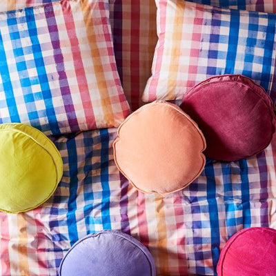 Kip and Co | Velvet Filled Pea Cushion | Apricot