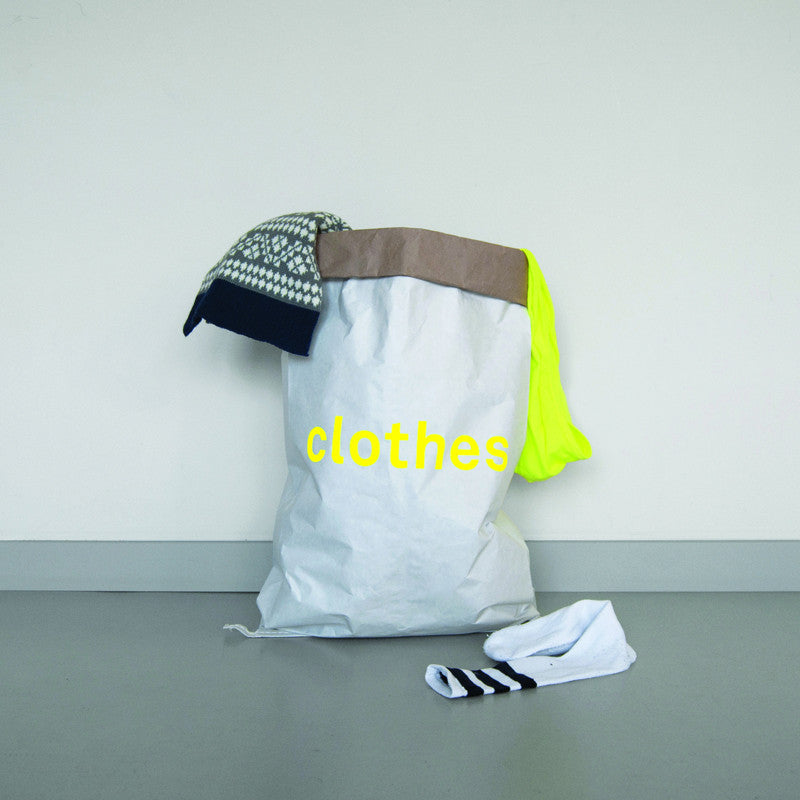 "Kolor paper storage bag - ""clothes"" in yellow"