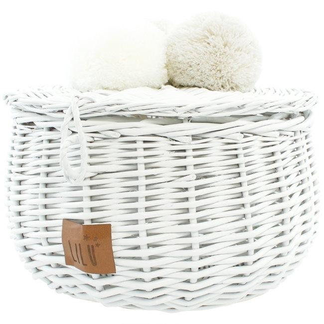 Lilu | Wicker Basket | Large | White