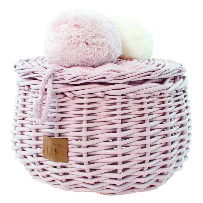 Lilu | Wicker Basket | Small | Dusty Pink