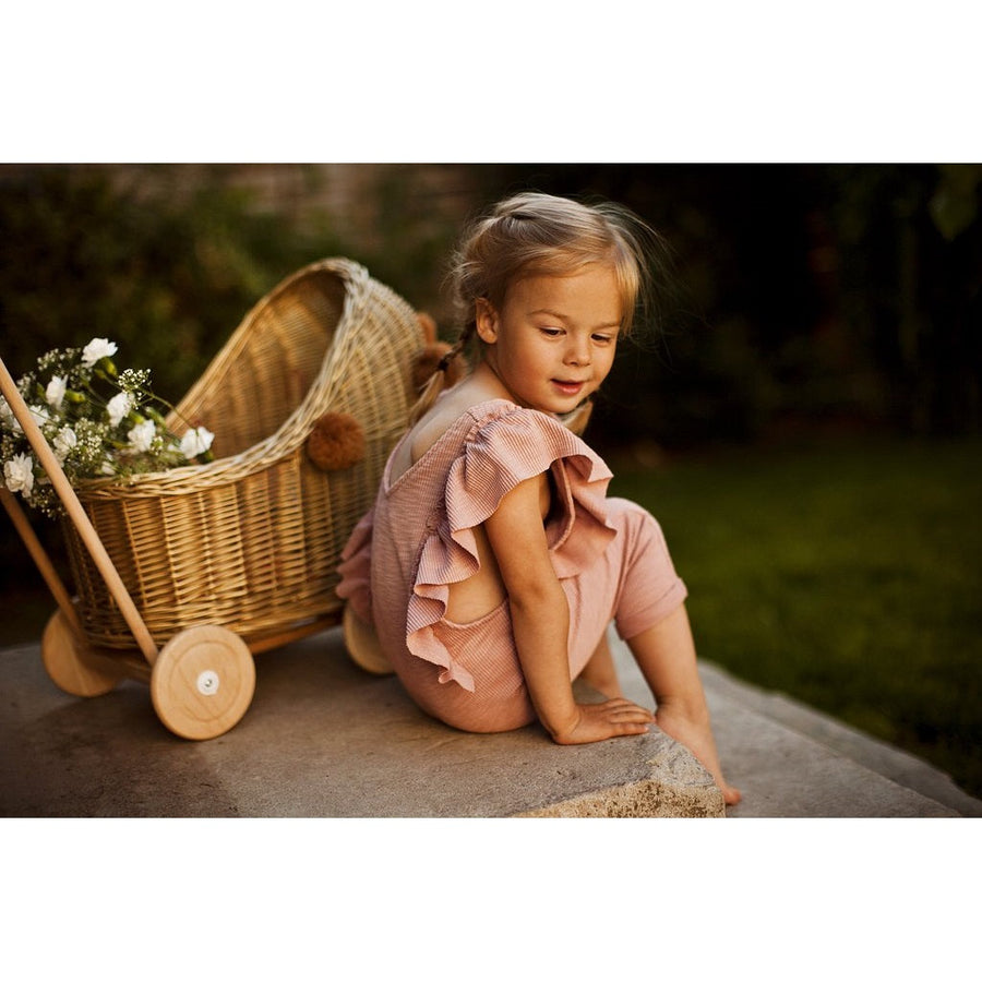 Lilu | Wicker Doll's Pram | Gold