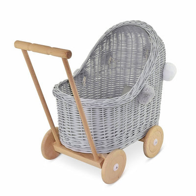 Lilu | Wicker Doll's Pram | Grey