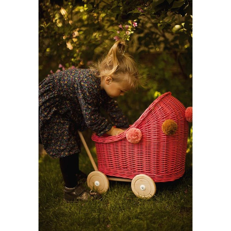 Lilu | Wicker Doll's Pram | Watermelon