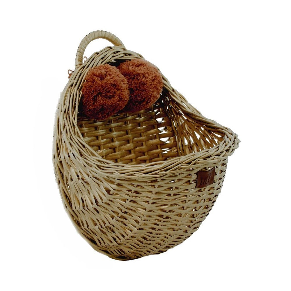 Lilu | Wicker Wall Basket | Gold
