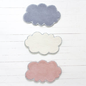 Little P for Little People Mini Doll's Size Silver Lining Cloud Rugs