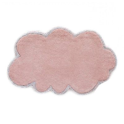 Little P for Little People Mini Doll's Size Silver Lining Cloud Rug - Blossom Pink