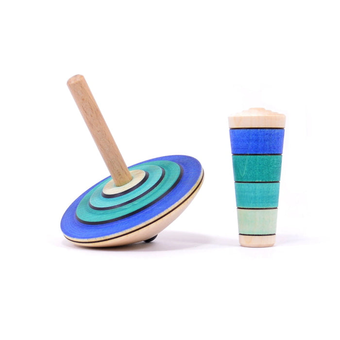 Mader | My First Spinning Top with Starter | Blue