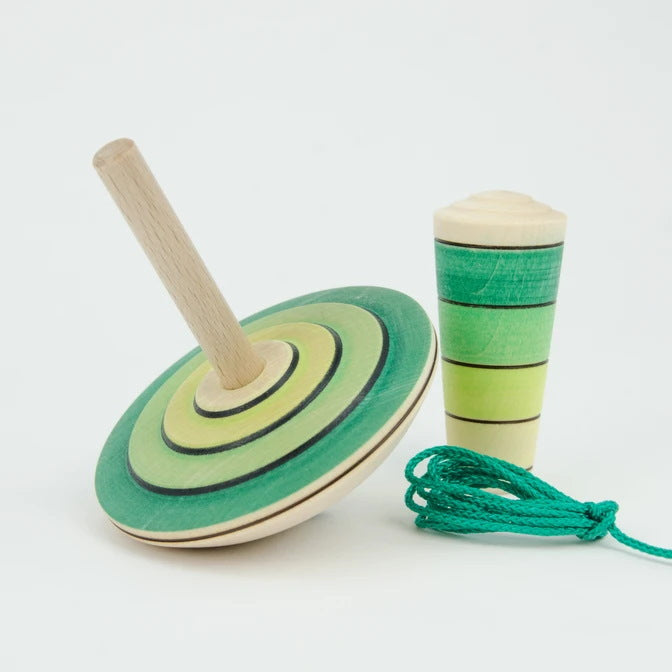 Mader | My First Spinning Top with Starter | Green