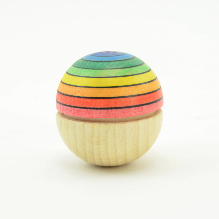 Mader | Roly Poly Wiggle Ball Rainbow | Top Purple Bottom Red
