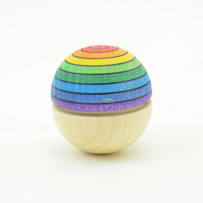 Mader | Roly Poly Wiggle Ball Rainbow | Top Red Bottom Purple