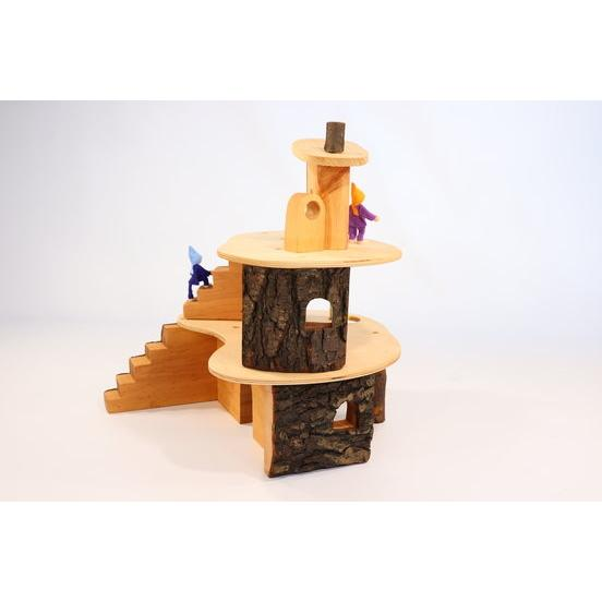 Magic Wood | Classic Tree House | Wooden Doll House Treehouse