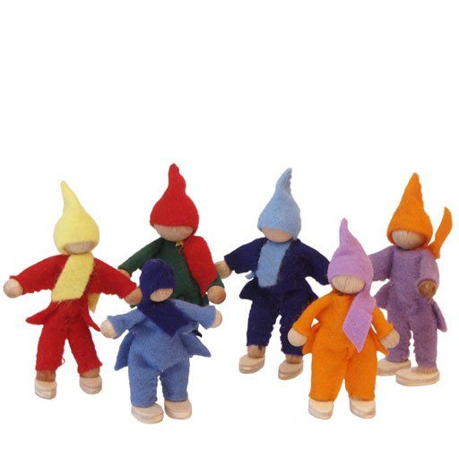 Magic Wood | Felt Family of 6 Dolls for Treehouse
