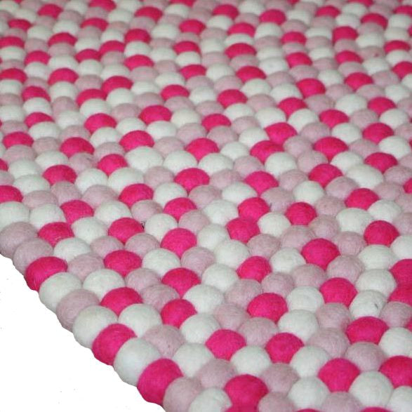 Milk Tooth wool felt ball rug - Fairy Floss in 140cm or 200cm