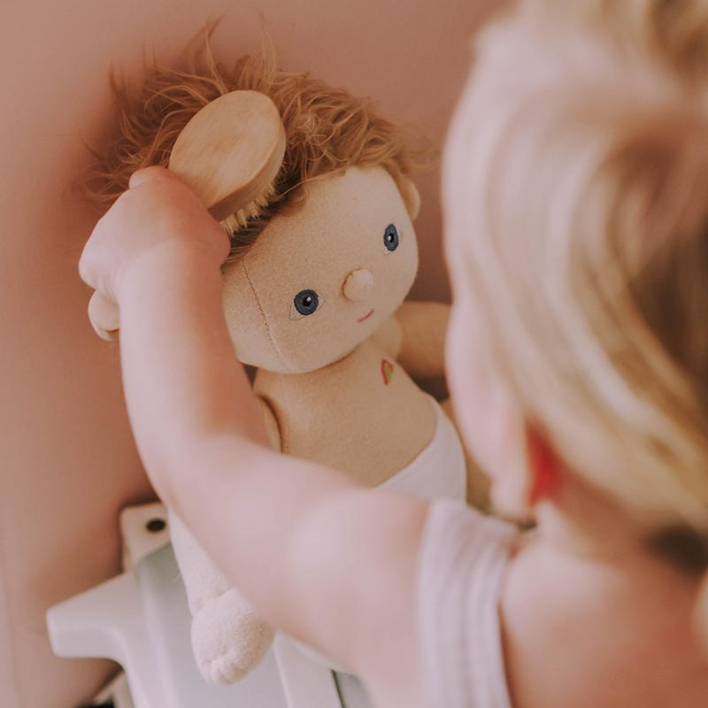 Olli Ella | Dinkum Doll Brush | Wooden Toy | Hairbrush | Hair Brush