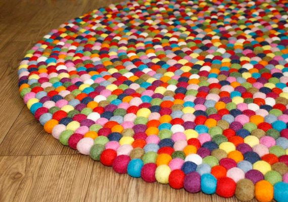 felt ball rug | freckle | free shipping in australia | milk tooth