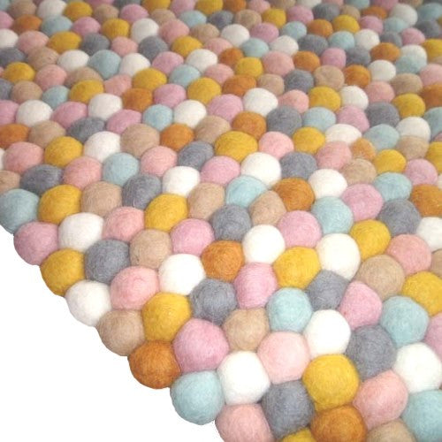 felt ball rug | sunrise | free shipping in australia | milk tooth