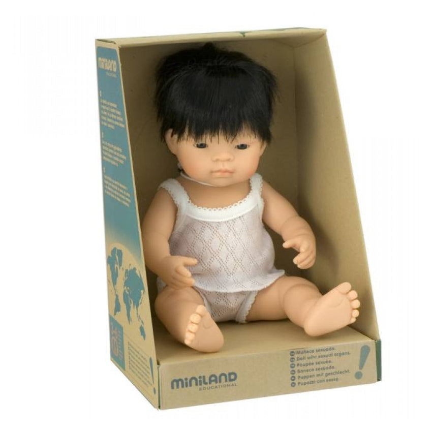 Miniland 38cm Baby Doll | Asian Boy