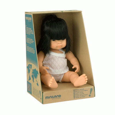 Miniland 38cm Baby Doll | Asian Girl