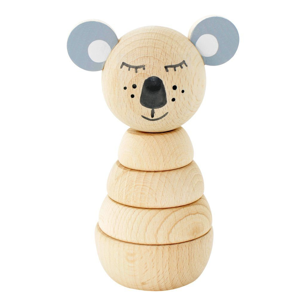Miva Vacov | Wooden Koala Stacking Puzzle | Sydney Natural Base