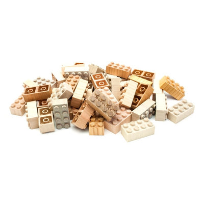 Mokulock | Wooden Building Bricks | 48 Pieces