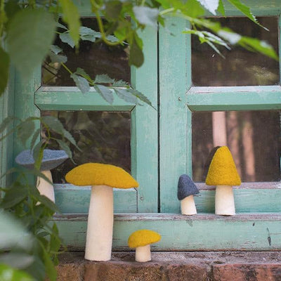Muskhane Wool Mushroom on Window Sill