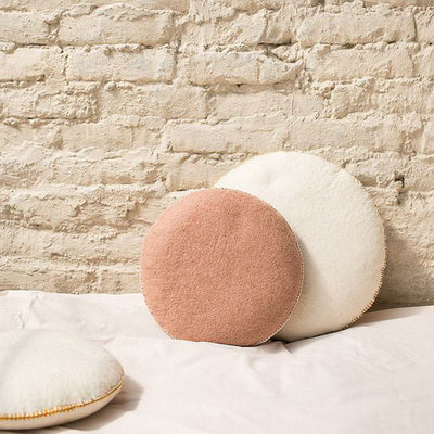 Muskhane Smarties Cushions showing difference between large 40cm and regular 29cm