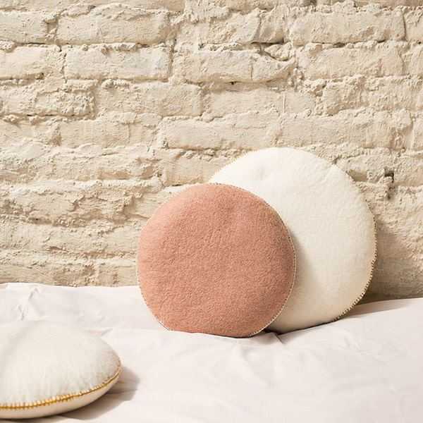 Muskhane | Smartie Cushion Large 40cm | Light Stone