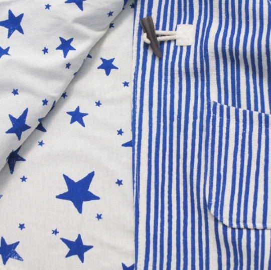 Noé & Zoë | Kid's Cape | Royal Blue Stripes & Stars