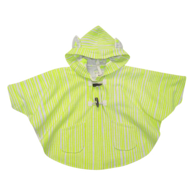 Child's cape with hood and ears - Neon yellow - Milk Tooth