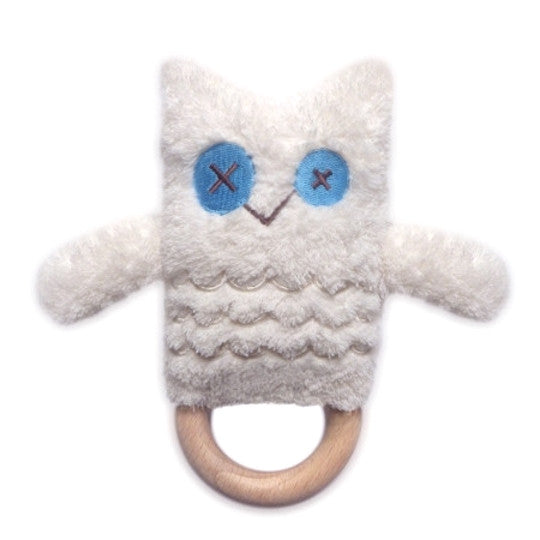 O.B. Designs Baby Toy | Emma Owl | Teething Ring & Rattle
