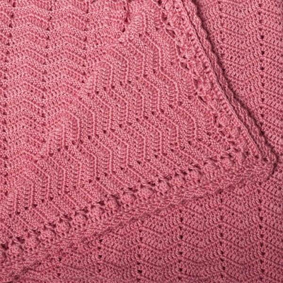 O.B. Designs | Hand Crochet Baby Blanket | Blush