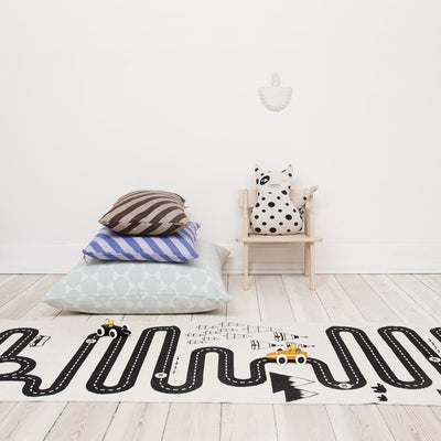 Adventure Rug playmat with winding road by OYOY