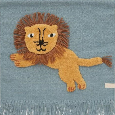 OYOY Living Design | Lion | Wall Hanging | Tourmaline Blue