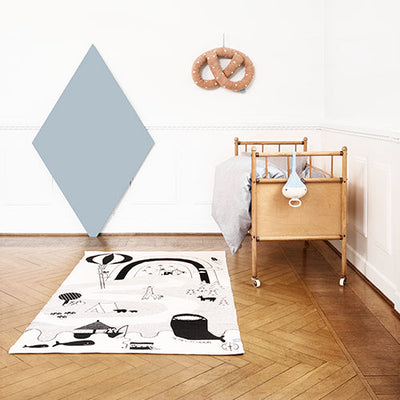 Styled Scandi Kids Room featuring Mr. Megalodon Adventure Rug from OYOY