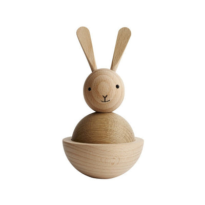 Sitting Nature Wooden Rabbit by OYOY Living Design