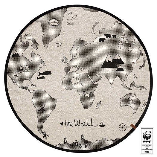 Oyoy the world rug round playmat milk tooth the world rug by oyoy gumiabroncs Gallery